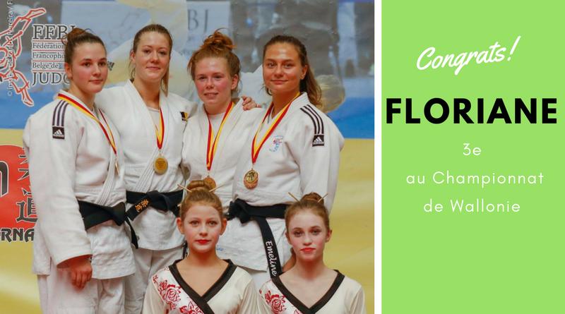 Champ. de Wallonie : Floriane médaillée de bronze