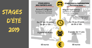 Stages d'été 2019