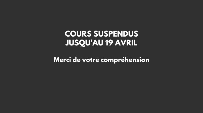 Cours suspendus